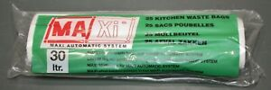 25 Kitchen Waste Bags for Maxi Automatic System 30 L MA Xi Sanitary Trash