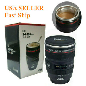 Caniam Camera Lens Thermos As Canon EF 24-105mm Coffee Tea Mug Cup Travel Gift
