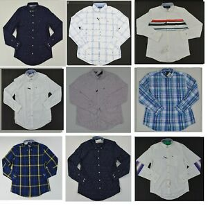 NWT Mens Tommy Hilfiger Button Front Long Sleeve Casual Shirt Sz XS XXL $30.00