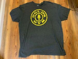 Golds Gym Shirt Men's Logo Stronger Than Yesterday + dvd size 2X $20.49