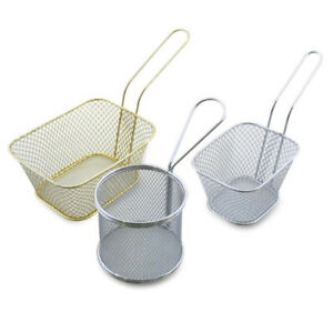 Kitchen Useful Stainless Steel Basket Food Frying Fried Potato Chip Strainer