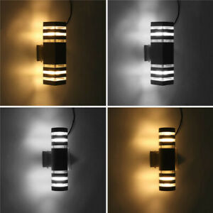 Modern Up Down LED Wall Light Sconce Dual Head Lamp Fixtures Outdoor Waterproof