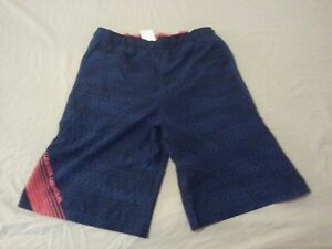 Boys New Under Shorts YXL Youth XL Navy Blue Athletic Gym Workout $11.96