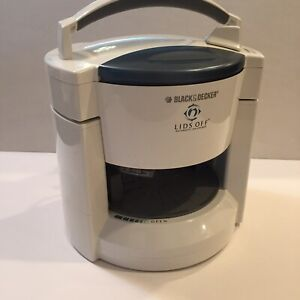 Black & Decker Lids Off WHITE Automatic Electric Jar Opener JW200 Tested Works