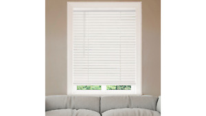 2quot; Cordless Faux Wood Blinds White