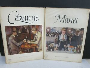 Cezanne & Manet VTG 1954 Abrams Art Book of 16 Color Lithograph Prints Complete