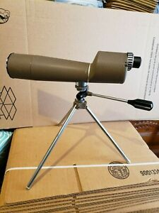 Vintage Herter's Hunting Spotting Scope And Tripod 20X40 With Case Made In Japan