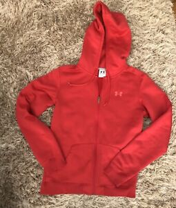 Women's Pink Under Armour Zip Up Hoodie Jacket size M $24.00