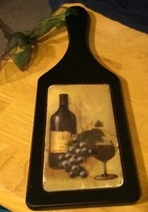 Wine Motif Decorative Cutting Board