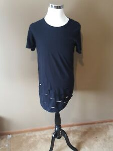 Two Angle Paris T Shirt Size med black.long length.usps priority package $20.00