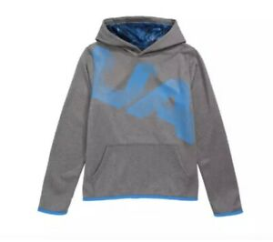 NWT UA UNDER ARMOUR Boys Armour Fleece® Printed Hoodie Gray YMD $29.99