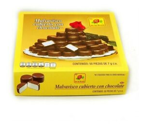 Box of Marshmallow Covered in Chocolate 50 pieces-De la Rosa