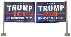 Trump 2020 No More BS Blue Rough Tex Knit 2-Sided 12x18 12