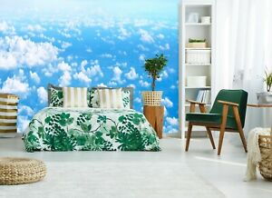 3D White Clouds PKE566 Business Wallpaper Wall Mural Self adhesive Commerce Kay