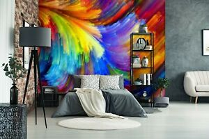3D Color Lines PKE608 Business Wallpaper Wall Mural Self adhesive Commerce Kay