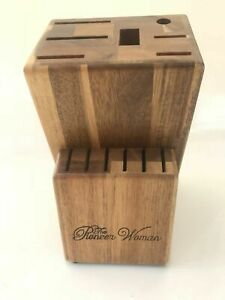 THE PIONEER WOMAN Rustic Kitchen ACADIA Knife Block 13 Slot (Block Only!) (NEW)