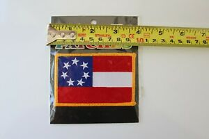 1ST FIRST NATIONAL CONFEDERATE FLAG FULL COLOR TACTICAL IRON ON Civil War PATCH