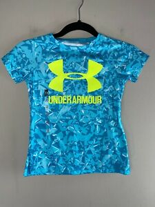 UNDER ARMOUR Girls Short Sleeve Shirt Youth Size XS $20.00