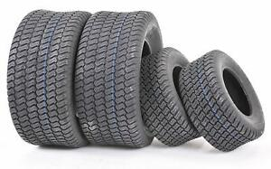 2 Front and Rear Lawn Mower Turf Tires Size 18x9.50 8 and 15x6.00 6 $125.99