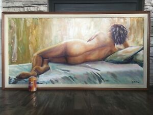 Nude Original Oil Painting Signed By Daniel Oropeza Orange County Sculptor 51