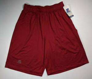 Russell Athletic Mens Shorts Maroon Dri Power Basketball Stretch Loose Fit M New $9.99