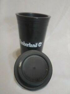 TIMBERLAND BOOTS Branded Insulated Tumbler w Lid BLACK AND WHITE LOGO UNIQUE