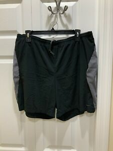 Men's NIKE Adult Running Shorts. Black Gray. NikeFit. Size XL. EUC. $16.95