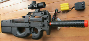 P90 Style Electric Airsoft Gun w Red Dot Scope BB Target Shoot up to 240 FPS $38.99