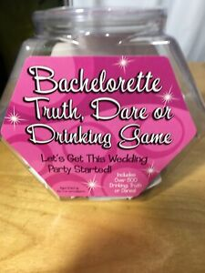 BACHELORETTE TRUTHDARE OR DRINKING GAME INCLUDES 500 PAPERS