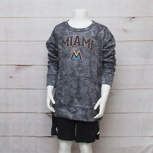 Under Armour Miami Marlins Youth Boys Girls Large YLG Camo Pullover Hoodie MLB $16.95