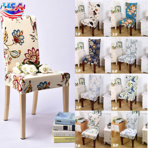 1/4/6/8PCS Dining Chair Covers Spandex Stretch  Slipcover Dining Room Seat Decor