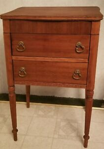 VERY RARE ANTIQUE PERFECT SEWING CABINET BY CASWELL RUNYAN CO. INDIANA $139.00