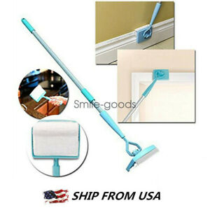 Baseboard Home Cleaning Mop Walking Glide Extendable Microfiber Dust Brush US