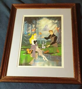 Sleeping Beauty Disney Store EXCLUSIVE COMMEMORATIVE LITHOGRAPH FRAMED $59.00