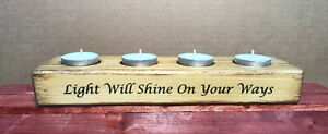 Tea Light Candle Holders with Biblical Scripts Set 3
