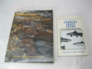 Atlas Vermont Trout Streams amp; Ponds Vintage Old Fly Fishing River Maps Book