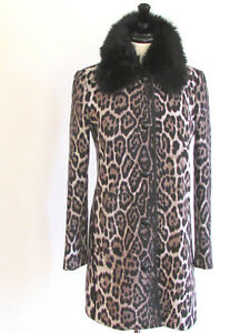 Women's Coats Faux Fur Coat Spring Coats Designer Juicy Couture Animal Print M