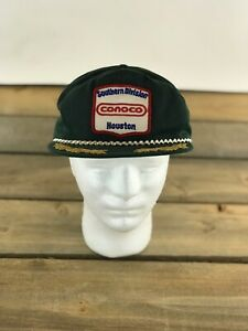 Vtg Conoco Southern Division Houston TX Oil N Gas Green Patch Trucker Hat USA $20.46