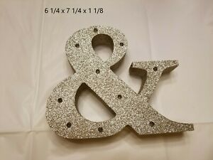 Glitter Gold Marquee Ampersand with Lights