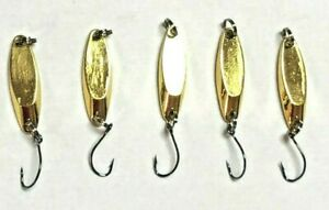 5 Hightower's Ultra Light 1 16th oz Kastmaster Style spoons Trout Crappie Bass