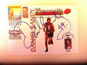 DANIEL BANDY HAND SIGNED FREMANTLE DOCKERS p stamp first day cover AU $15.00