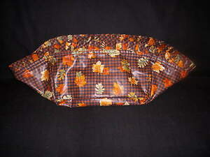 Longaberger Stand Up Liner in Fall Gingham Fabric 1997 Bountiful Harvest $14.99