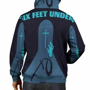 The Weeknd Six Feet Under Hoodie Fullprint New Zipper Hoodie For Mens $44.99