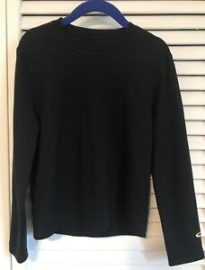 Boy's Champion Dry Fit Ling Sleeve Black Shirt Size 6 8 $6.50