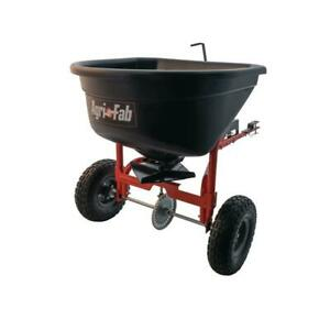 Fertilizer Seed Spreader HEAVY DUTY Tow Behind For Lawn Mower ATV Tractor