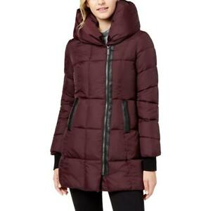 French Connection Women#x27;s Quilted Asymmetrical Hem Hooded Winter Puffer Coat $33.29