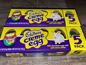 Cadbury ~ Creme Chocolate Eggs 2-Boxes 10-Count 1.2 oz Each ~ Expires 07/2020