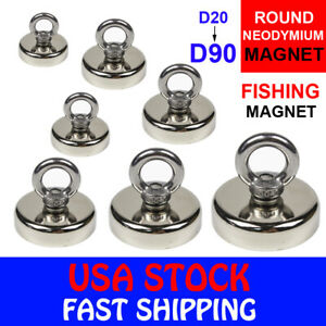 Fishing Magnet Neodymium Strong Pull Force Retrieving Treasure Hunt 14 660LB $11.35