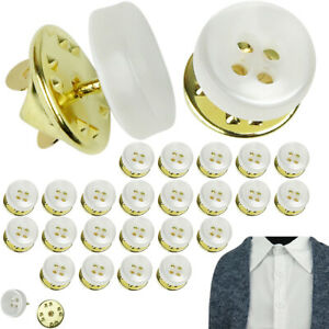 Evelots Instant Button Pins Shirt Blouse Collar Sleeve Imitation Pearl Set 24 $7.99
