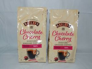 (2X) Baileys Chocolate Cherry Premium Light Roast Ground Coffee Arabica Beans
